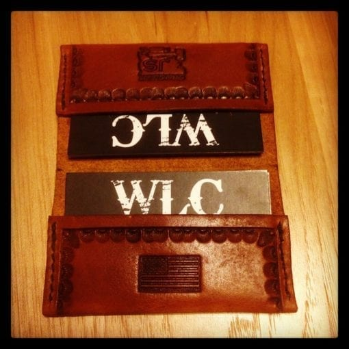 Business Card Wallet Open