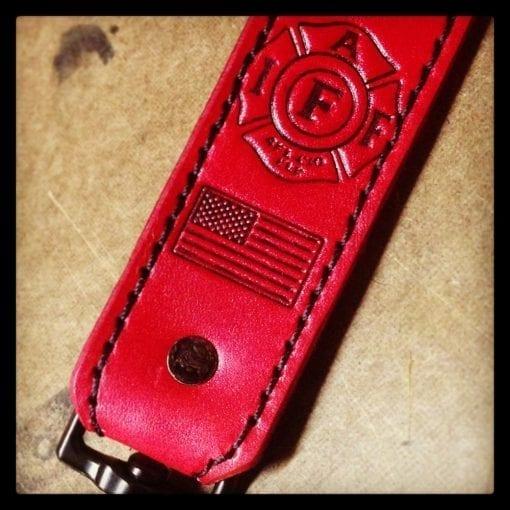 Standard Radio Shoulder Strap (Red, Black Text)