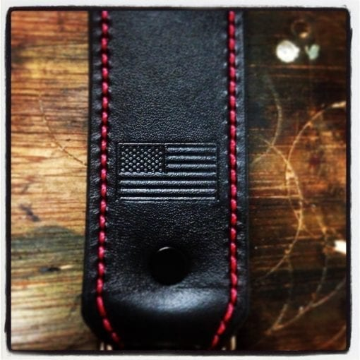 Standard Radio Shoulder Strap (Black Flag, Red Stitching)