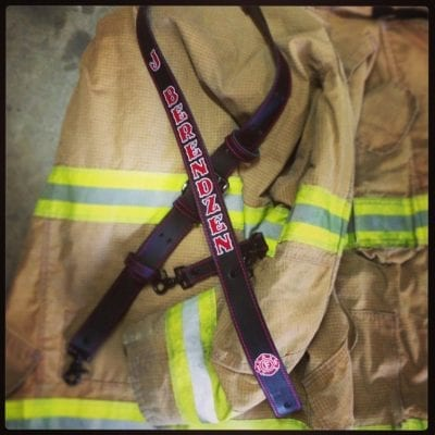 Standard Radio Shoulder Strap (Black and Red)