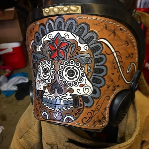 Handmade Leather SCBA Mask Cover