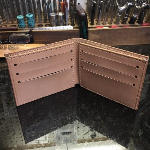 Handmade Bi-Fold Leather Wallet