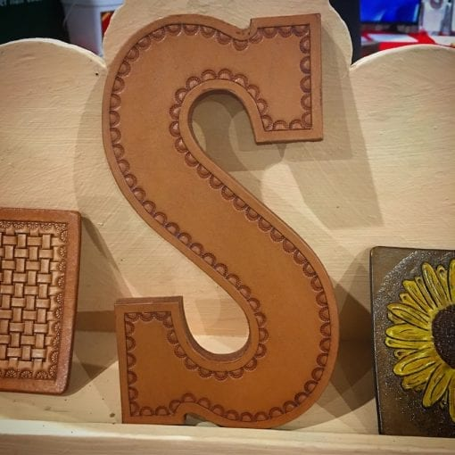 Handmade Large Leather Letter