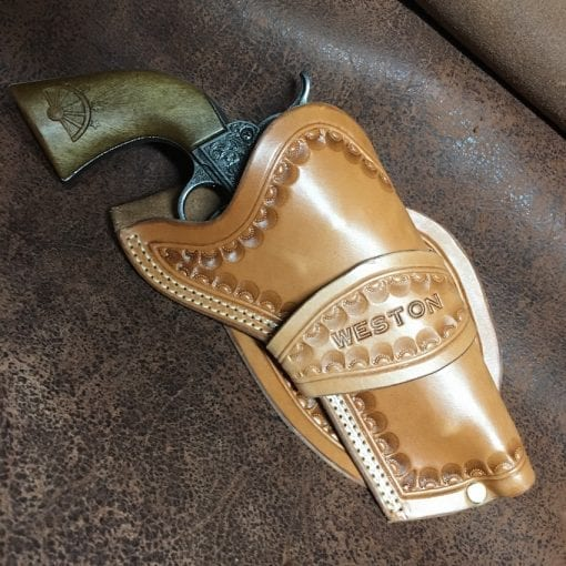 Handmade Leather Bottle Belt Holster