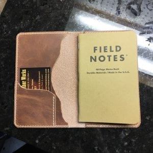 Handmade Leather Field Notes Book