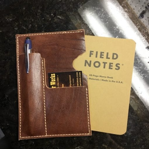 Handmade Leather Field Notes Sleeve