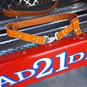 Handmade Leather Firefighter Truck Belts