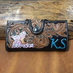 Handmade Leather Ladies Clutch Wallet