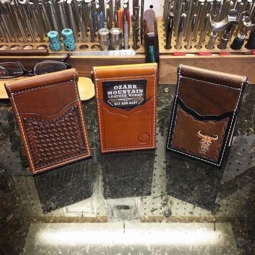 Handmade Leather Money Clip Wallet