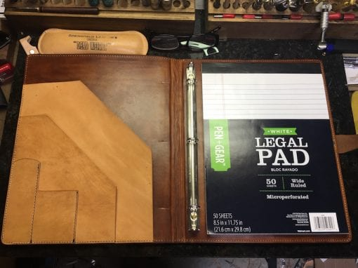 Handmade Leather Padfolio Legal Pad