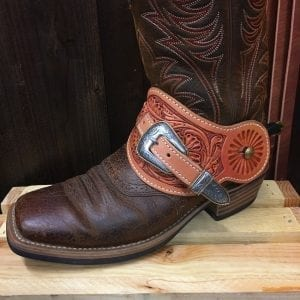 Handmade Leather Spur Straps