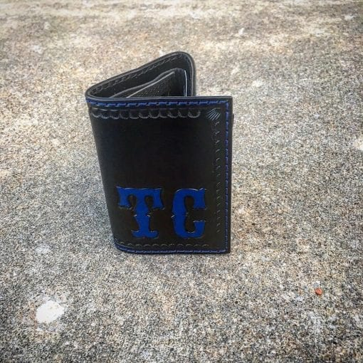 Handmade Leather Tri-Fold Wallet