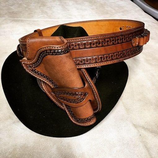 Handmade Leather Western Gun Rig